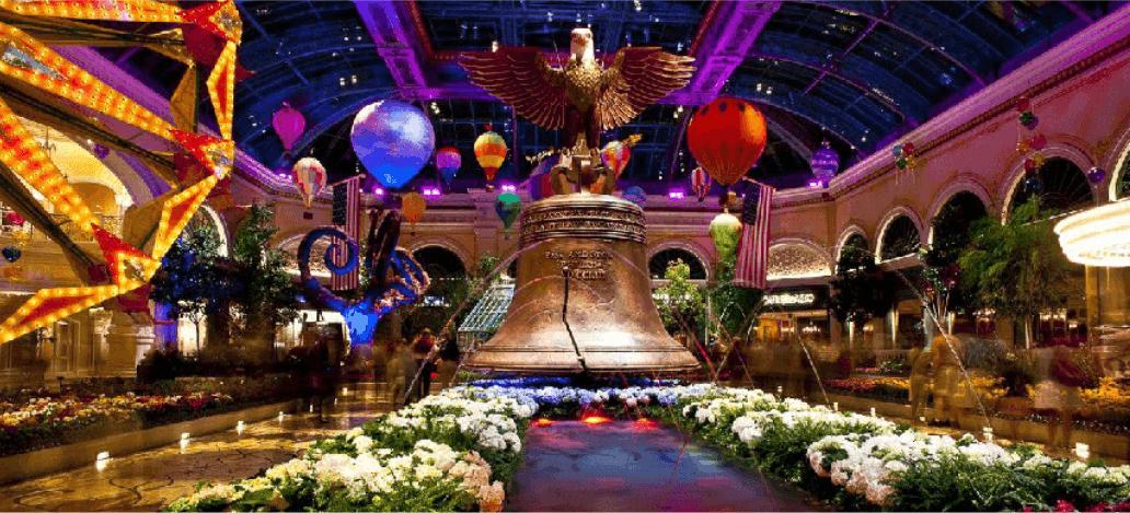 O jardim do Bellagio hotel casino las vegas estados unidos