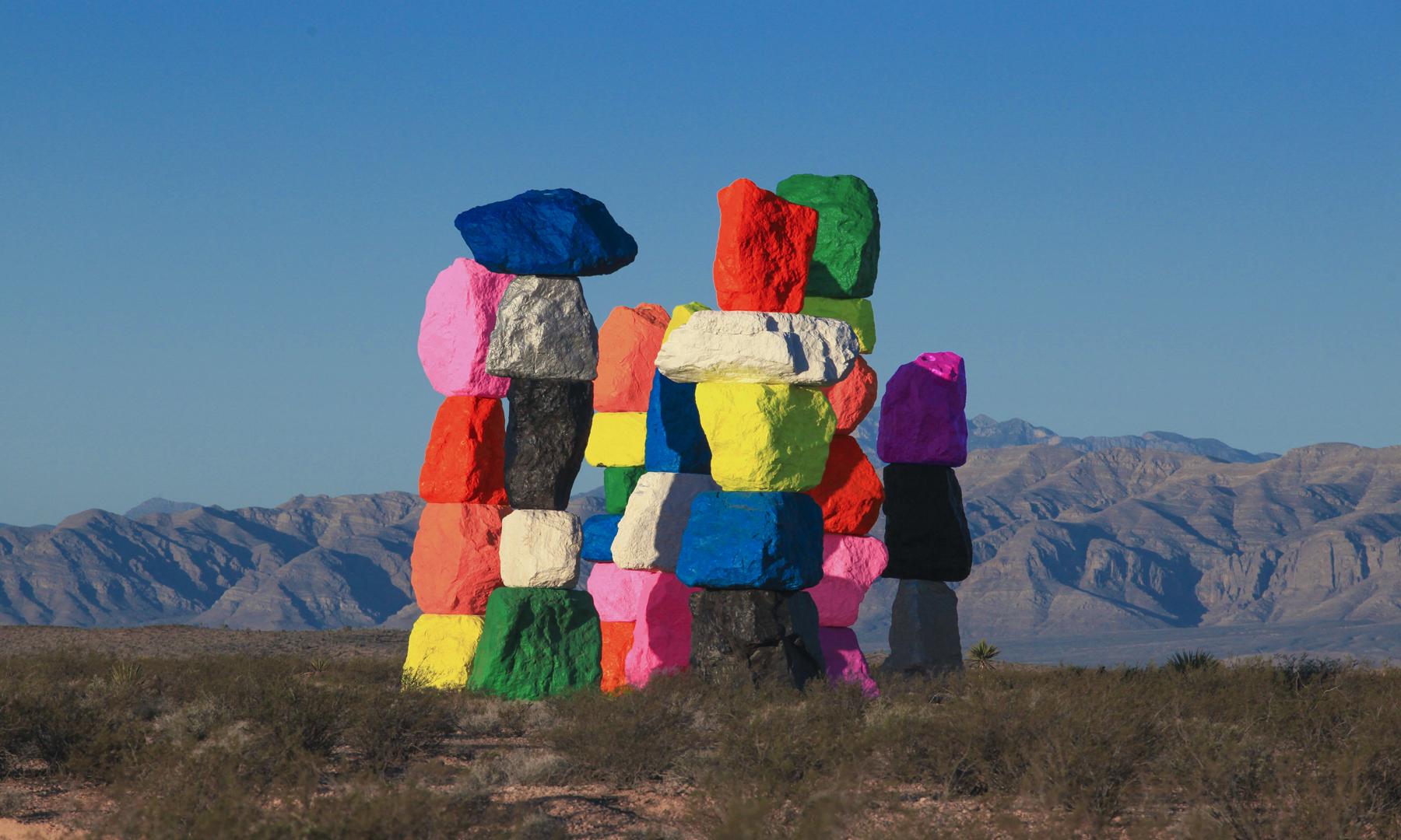 seven magic mountains cidade de las vegas lugares para visitar nos estados unidos